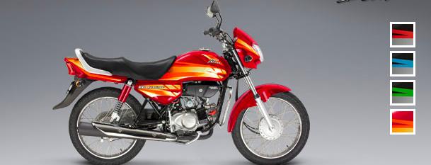 Honda Eco Deluxe: Color rojo-anaranjado