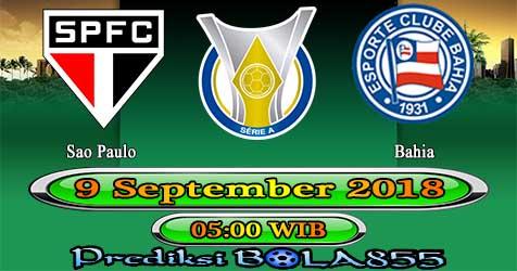 Prediksi Bola855 Sao Paulo vs Bahia 9 September 2018