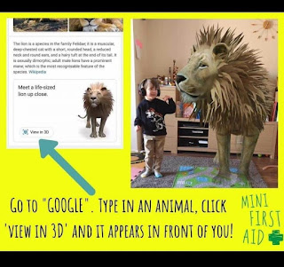 Image: 3D animals are on Google! Lions and tigers to pandas and sharks