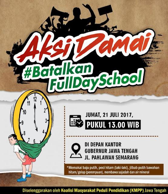 Setelah Shalat Jum'at nanti, Ratusan Ribu Rakyat Jawa Tengah Turun Jalan Tolak Full Day School