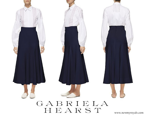 Countess Sophie wore GABRIELA HEARST Spencer stretch-wool skirt