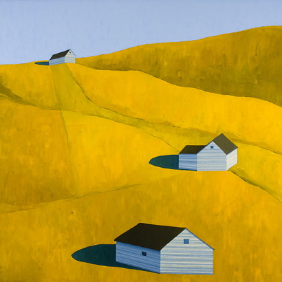 Blue Shadows, 2007 por Scott Redden - Oil on linen