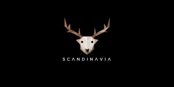 Kumpulan Desain Logo Low Poly - Skandinavia Low Polygon Logo