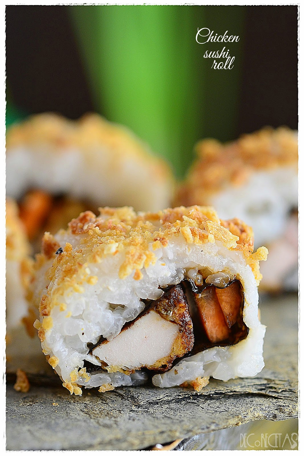 Chicken sushi roll