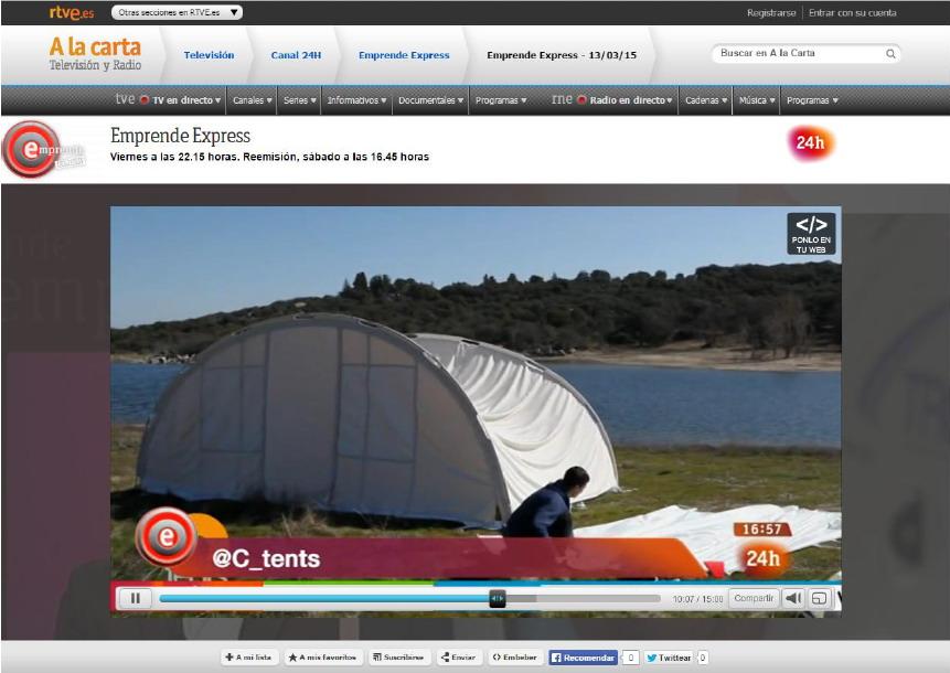 Ctents en Emprende Express RTVE Canal 24h