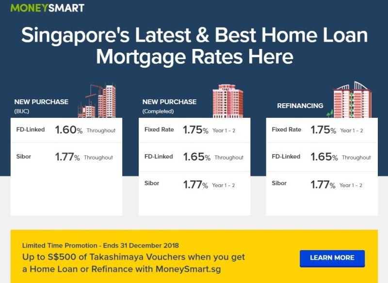 moneysmart singapore latest home mortgage rate takashimaya promotion