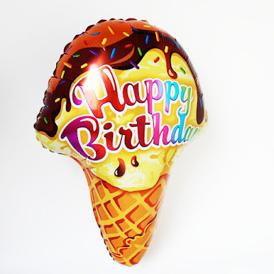 Balon Foil Ice Cream Happy Birthday