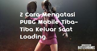 Mengatasi PUBG Mobile Tiba Tiba Keluar Sendiri / Force Close