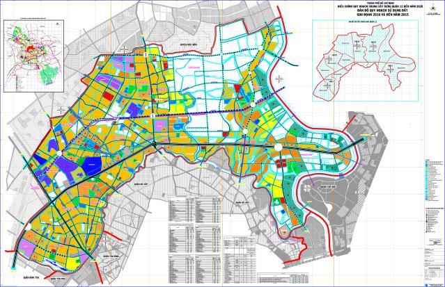 Bản đồ quy hoạch quận 12 đến năm 2020