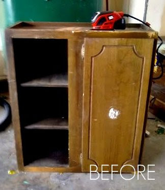 Discarded Cabinet Becomes Entry Organization My Fabuless Life