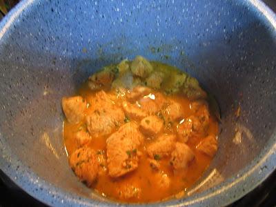 Solomillo de pavo adobado en salsa olla GM.