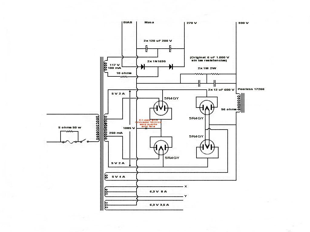 Información electrónica.: Amplificador 150W RMS con 811A.