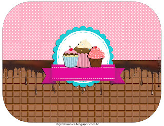 Etiquetas de Chicas Haciendo Cupcakes para imprimir gratis.
