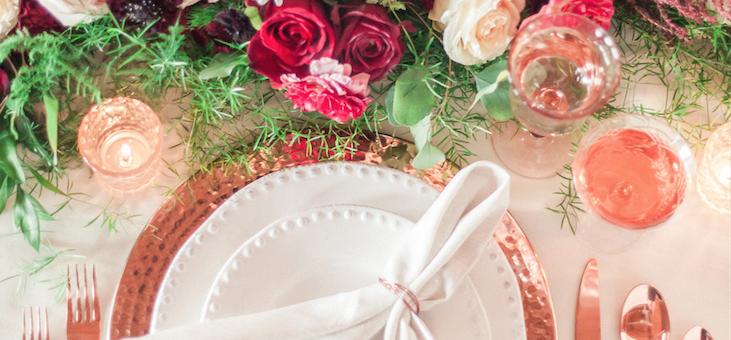 Romantic Blush and Rose Gold Downtown Phoenix Wedding