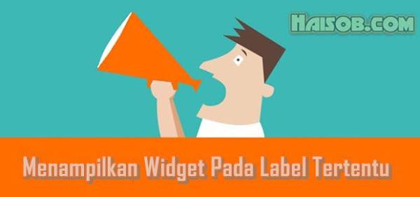 tutorial cara menampilkan dan menyembunyikan Widget pada Lebel tertentu di Blog
