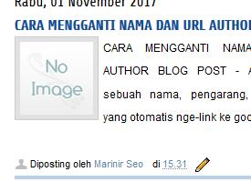 cara mngganti nama dan url pada author blog