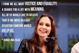 angelina jolie quotes about humanitarian