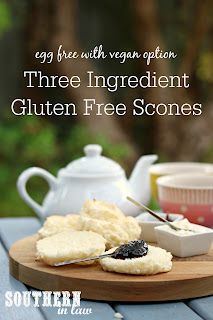 Easy Three Ingredient Gluten Free Scones Recipe