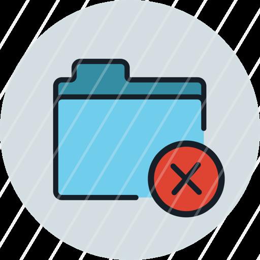 delete, files, folder, remove, storage, icon