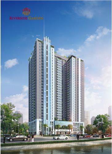 Phối cảnh chung cư Riverside Vũ Tông Phan