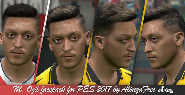 Mesut Özil Face Pack For PES 2017 by AlirezaFree