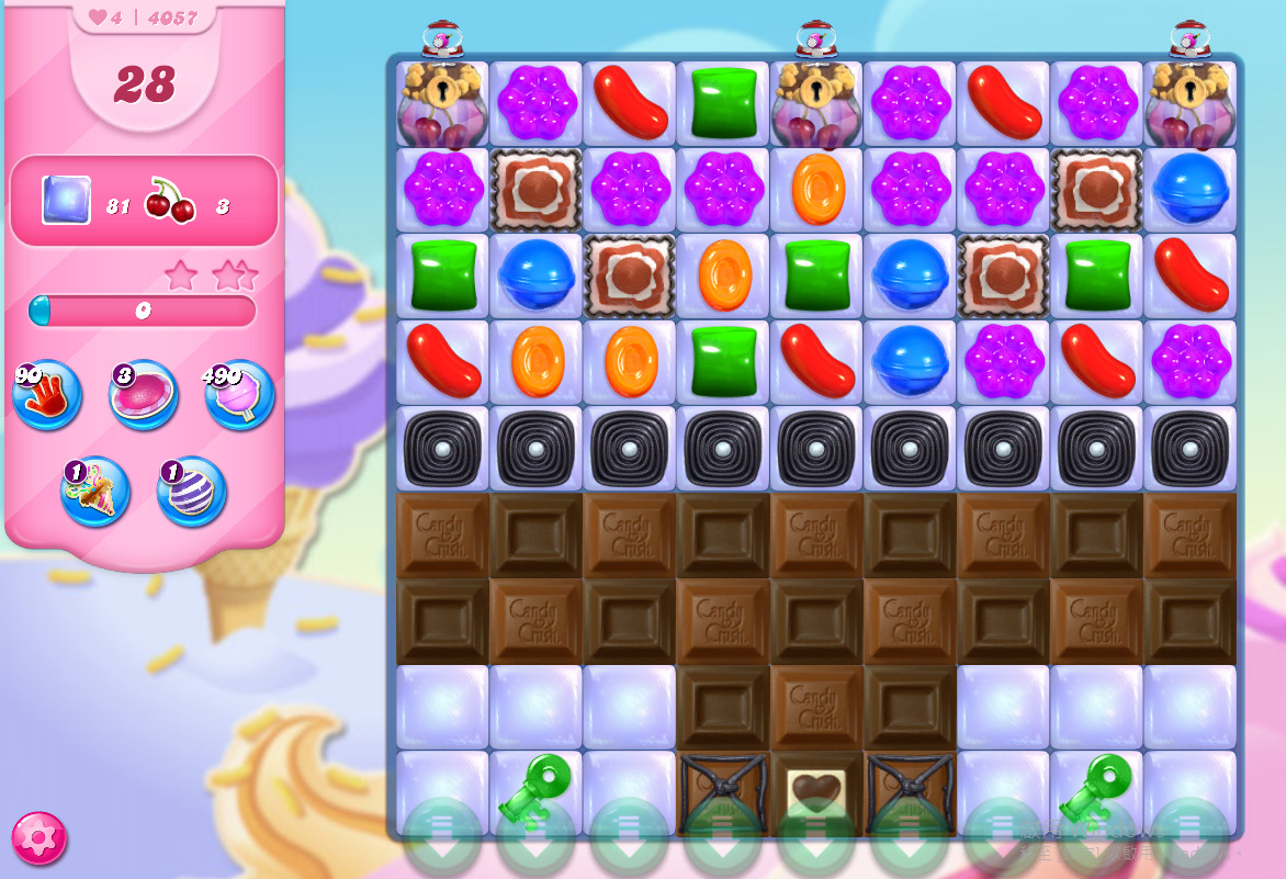 Candy Crush Saga level 4057