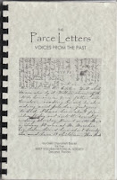 """Photo of cover of book """"Parce Letters: Voices From the Past"""""""
