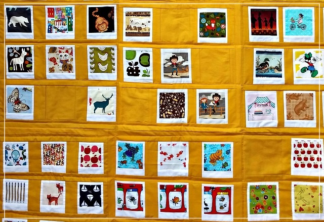 Polaroid Photo Quilt, Puppilalla, Patchwork, completed quilt