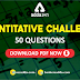 Quant Challenge 50 Questions For SSC CPO 2018: 6th January | Free PDF