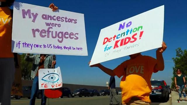 Activistas protestan ante centro de detención migratoria en EEUU