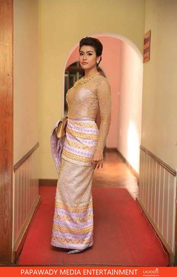 Myanmar Academy Fashion - Ei Chaw Po In Beautiful Myanmar Dress