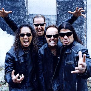 Foto de Metallica haciendo muecas