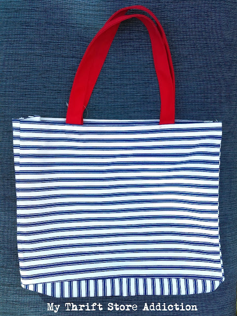 15 minute repurposed tote bag pillow