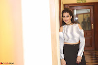 Manjusha in sleevelss crop top and black skirt at Darshakudu pre release ~  Exclusive Celebrities Galleries 031.JPG