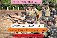 Police Recruitment 2017– Software Developers Officer