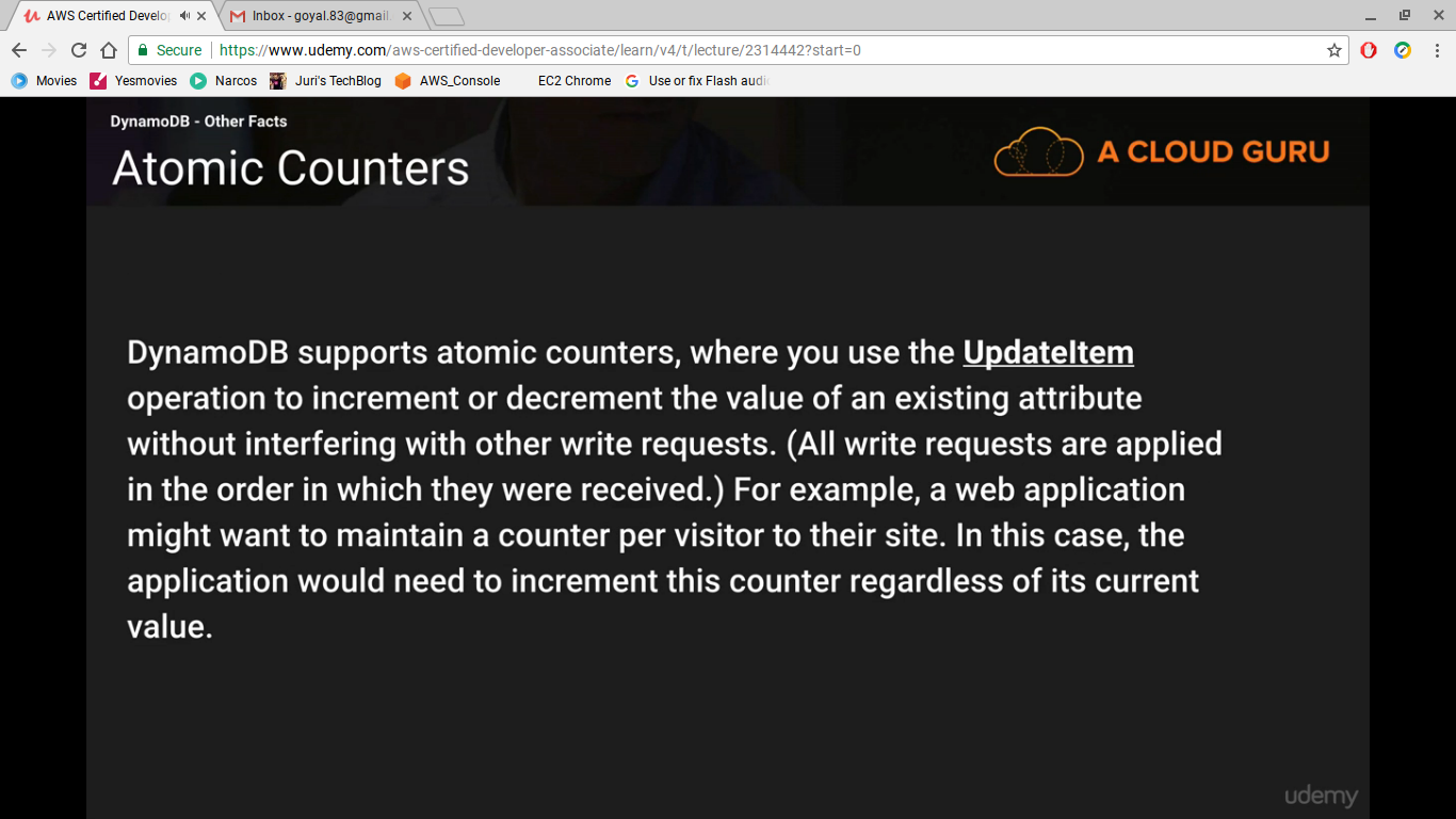 AWS Certified Developer Associate Notes - DynamoDB