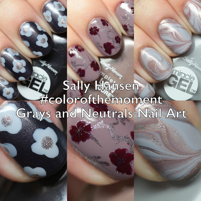 Sally Hansen Complete Salon Manicure and Miracle Gel nail art