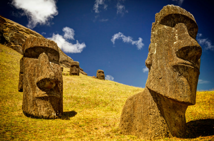 2. Moai, Easter Island - Top 10 Enigmatic Places