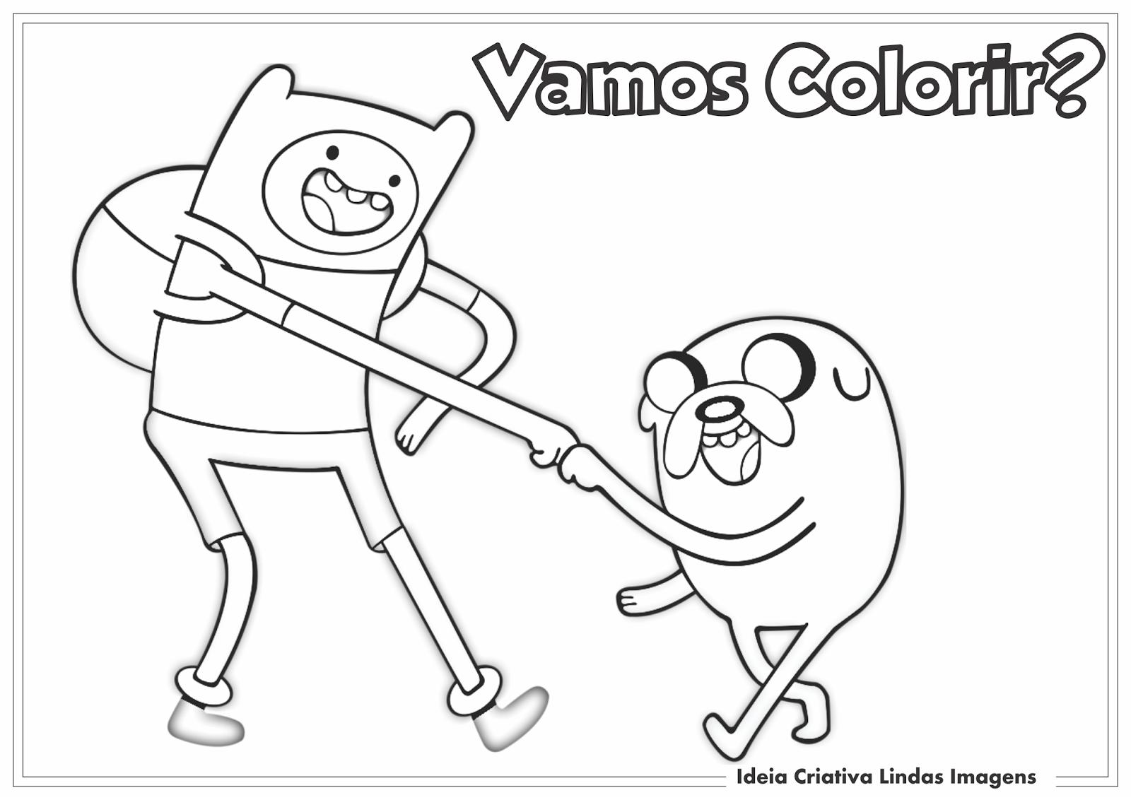 Desenho Finn E Jake Hora De Aventura Para Colorir