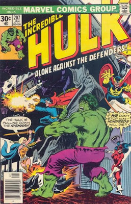 Incredible Hulk #207, the Defenders