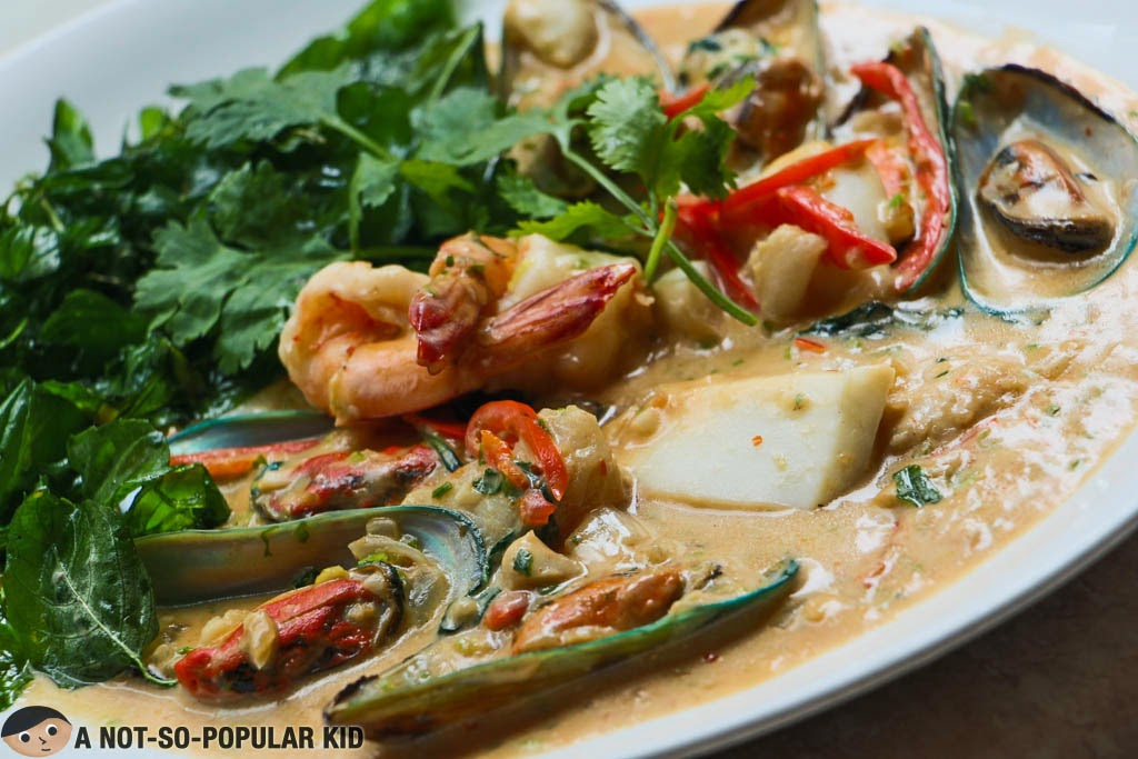 Mixed Seafood in Basil of Just Thai