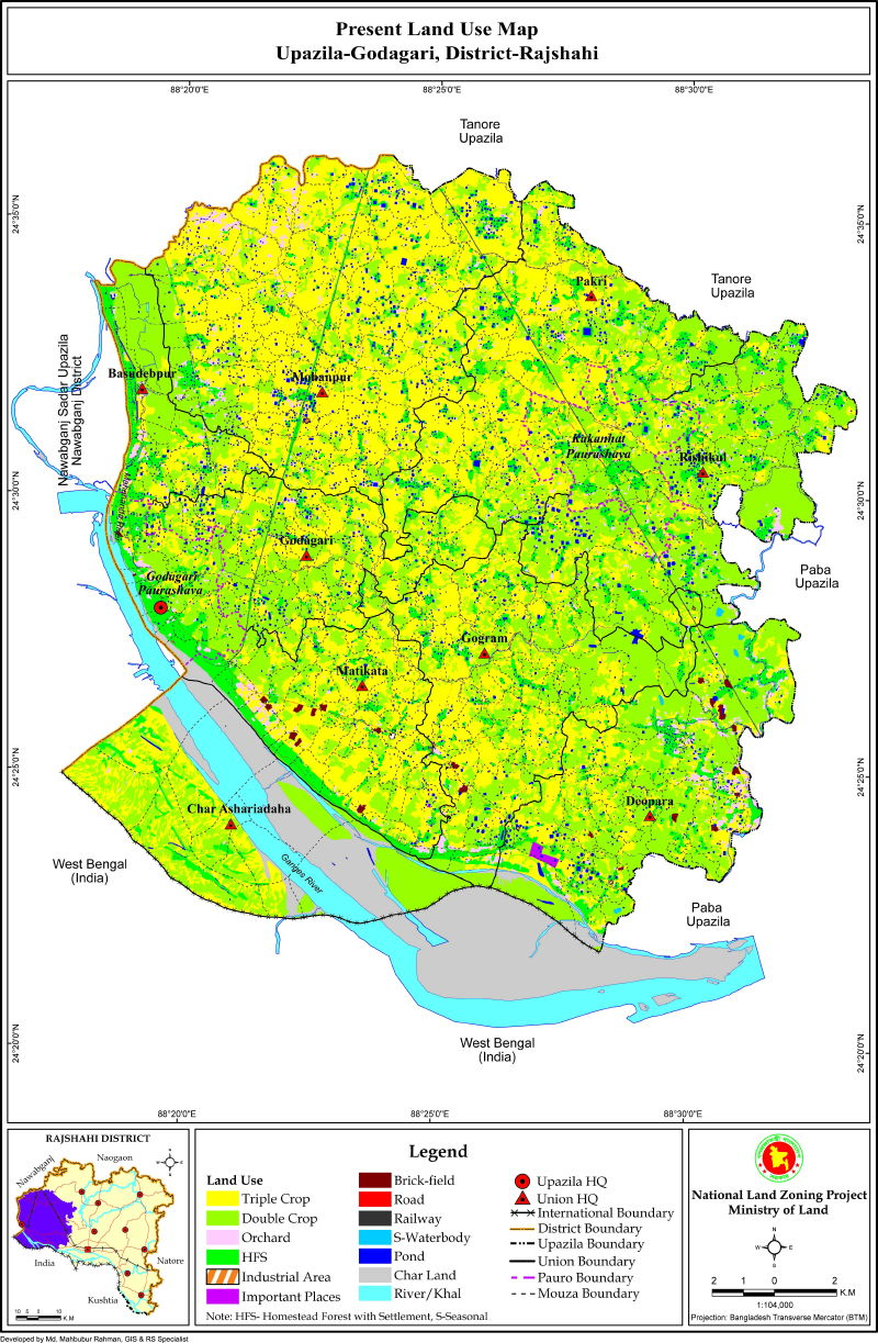 Godagari Upazila Mouza Map Rajshahi District Bangladesh