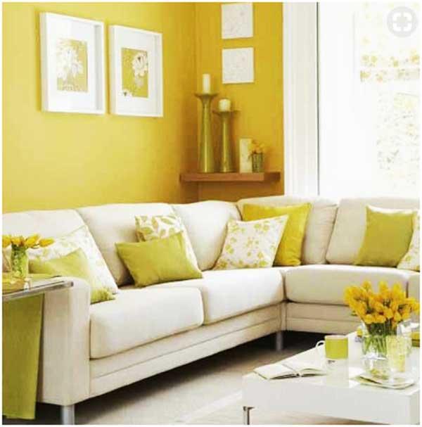 contoh warna cat ruang tamu kuning