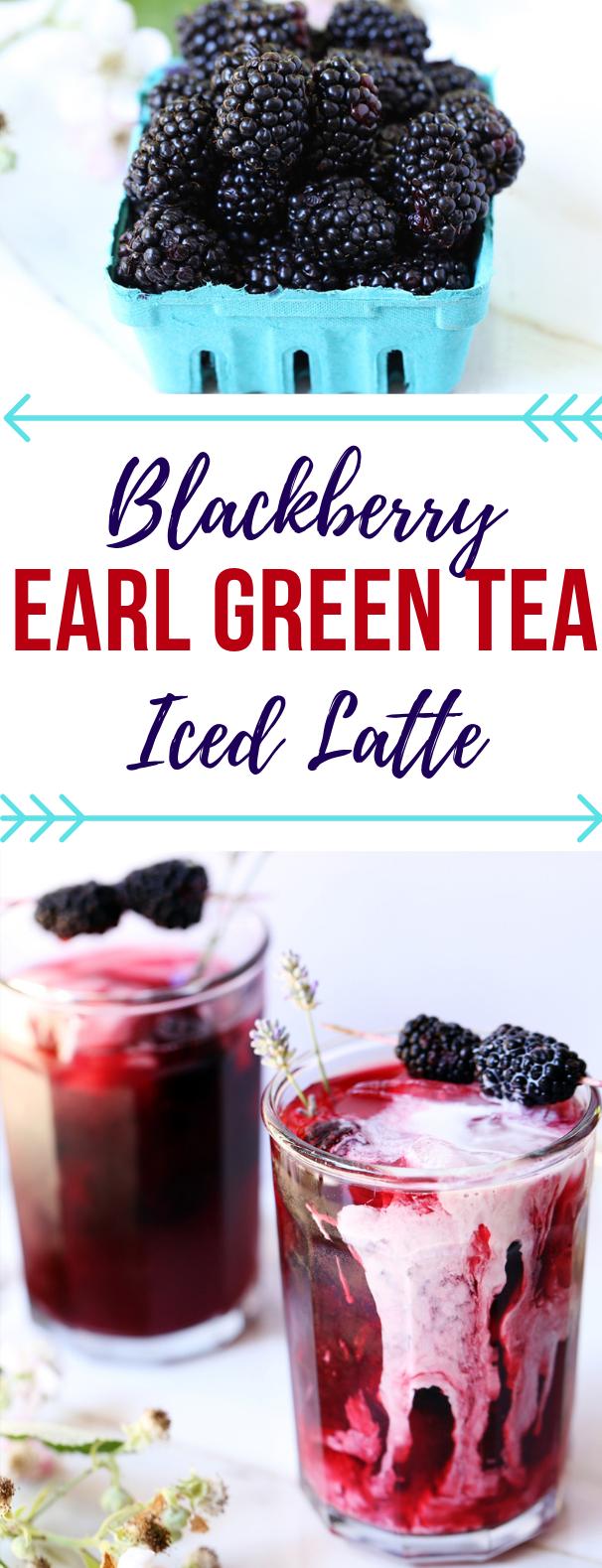 BLACKBERRY INFUSED EARL GREY ICED TEA #drink #summertable