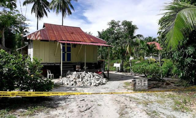 Rumah tersangka dipukul dan ditikam hingga mati. - NSTP / Noor Hidayah Tanzizi