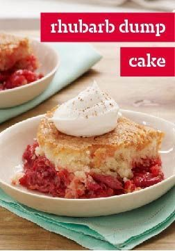 Rhubarb Dump Cake – What makes this dump cake recipe so much better than the old standby? A fresh, juicy filling that celebrates a classic farmers market ingredient—rhubarb!