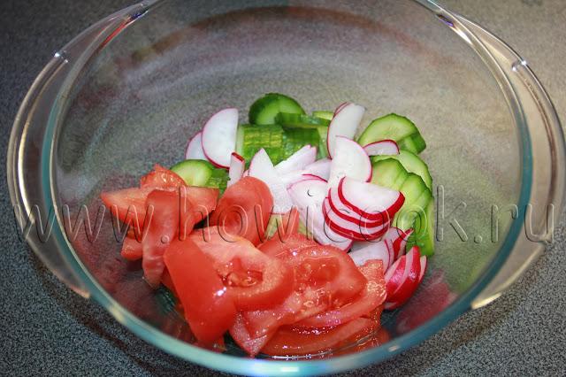 рецепт овощного салата со сметаной с пошаговыми фото