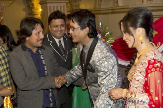 rajesh hamal and madhu bhattarai wedding, deepak raj giri, nirmal