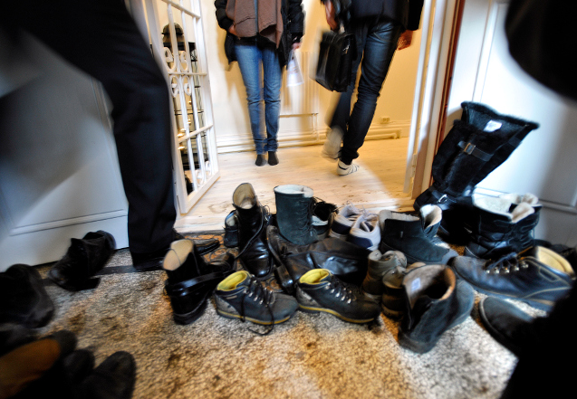 Dangers of wearing shoes in the house