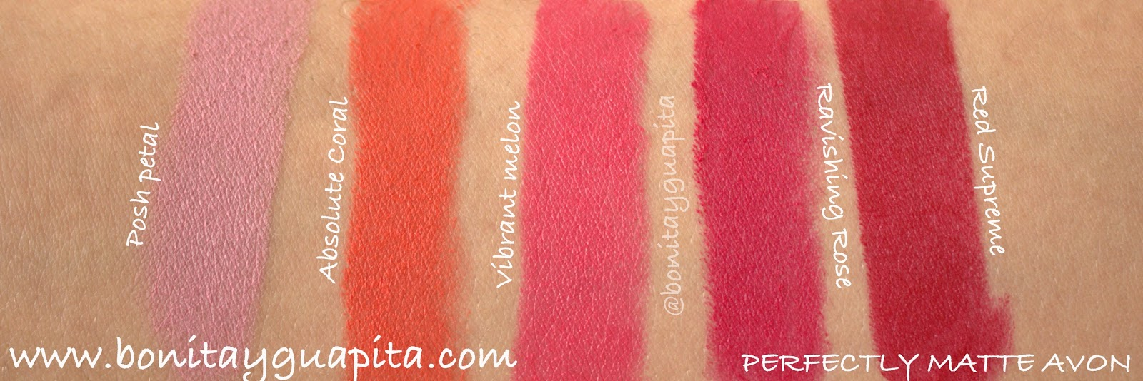 swatches perfectly matte avon
